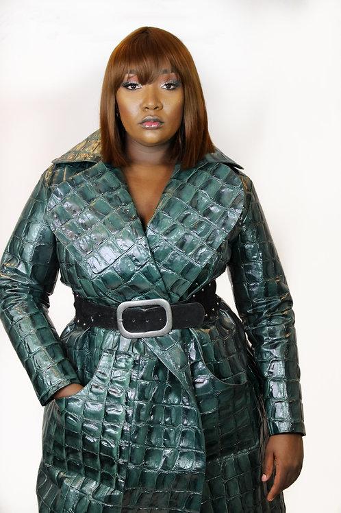 Always Extra Crocodile Leather Coat