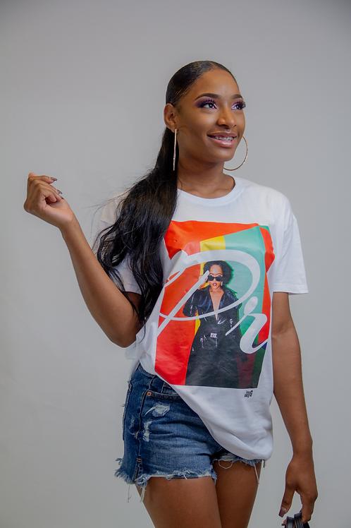 The Black Print shirt Woman