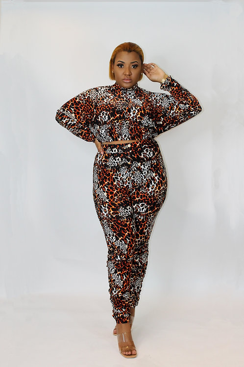 Panter Me Co'ord set with ruffle leg trousers