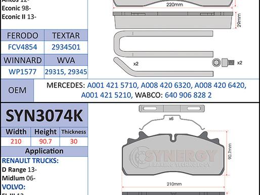 New to Range; CV Brake Pads (September 2020)