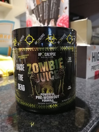 APOCALYPSE NUTRITION ZOMBIE JUICE PRE WORKOUT MUSCLEFACTORY GYM