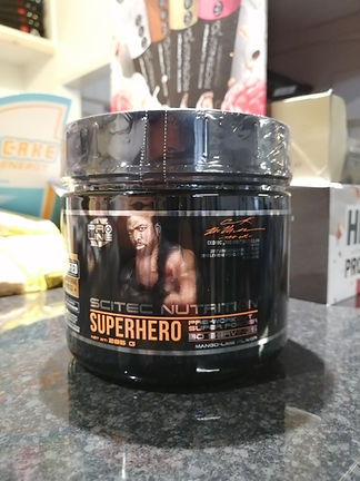 SCITEC NUTRITION SUPERHERO PRE WORKOUT BODYBUILDING GYM