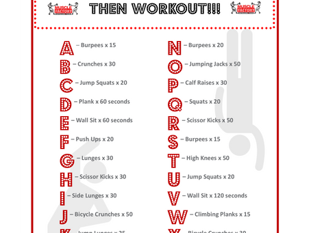 Home Workout Challenge: Spell Your Name...Then Workout!