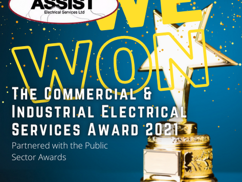 Assist Wins an Award! - The Commercial & Industrial Electrical Services Award 2021