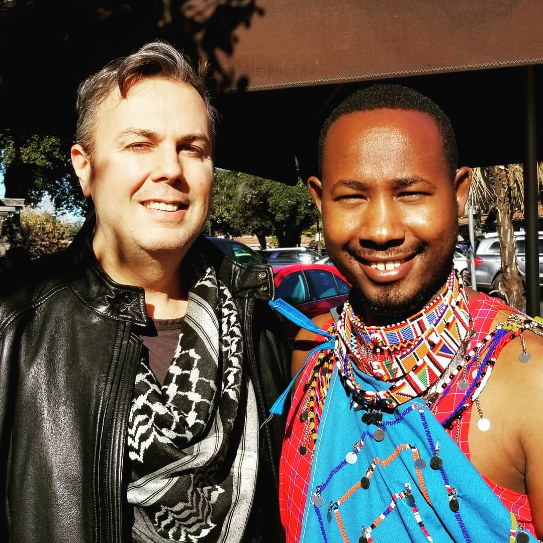 With Prince Harris Pem of the Maasai