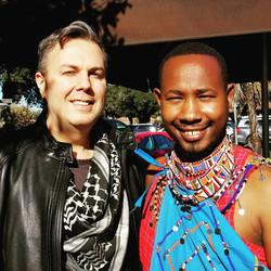 With Prince Harris Pem of the Maasai