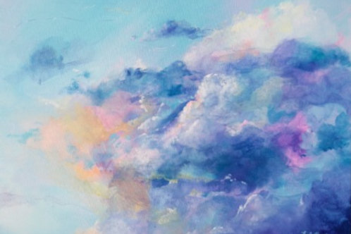 Colourful cloud painting