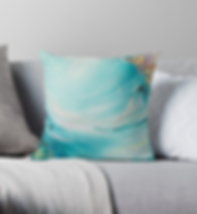 Turquoise scatter cushion Emily Louise Heard