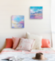 Sunset paintings by Emily Louise Heard