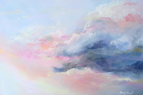 Neutral sky painting by Emily Louise Heard