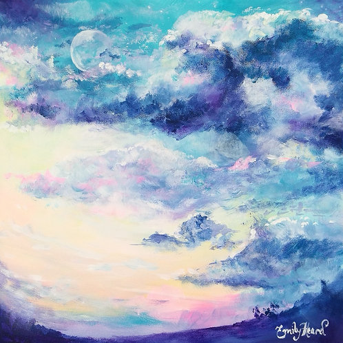Moon and sky painting