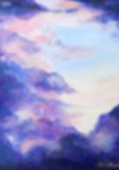 Purple sky painting