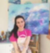 Artist Emily Louise Heard in studio