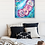 Abstract rose painting in bedroom