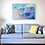 Colourful cloud painting in lounge