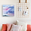 Pastel sky painting interior design by Emily Louise Heard
