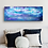 Bright blue sky painting on bedroom wall