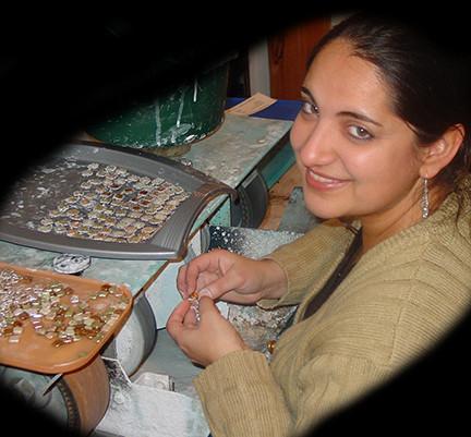 Haji cutting stones