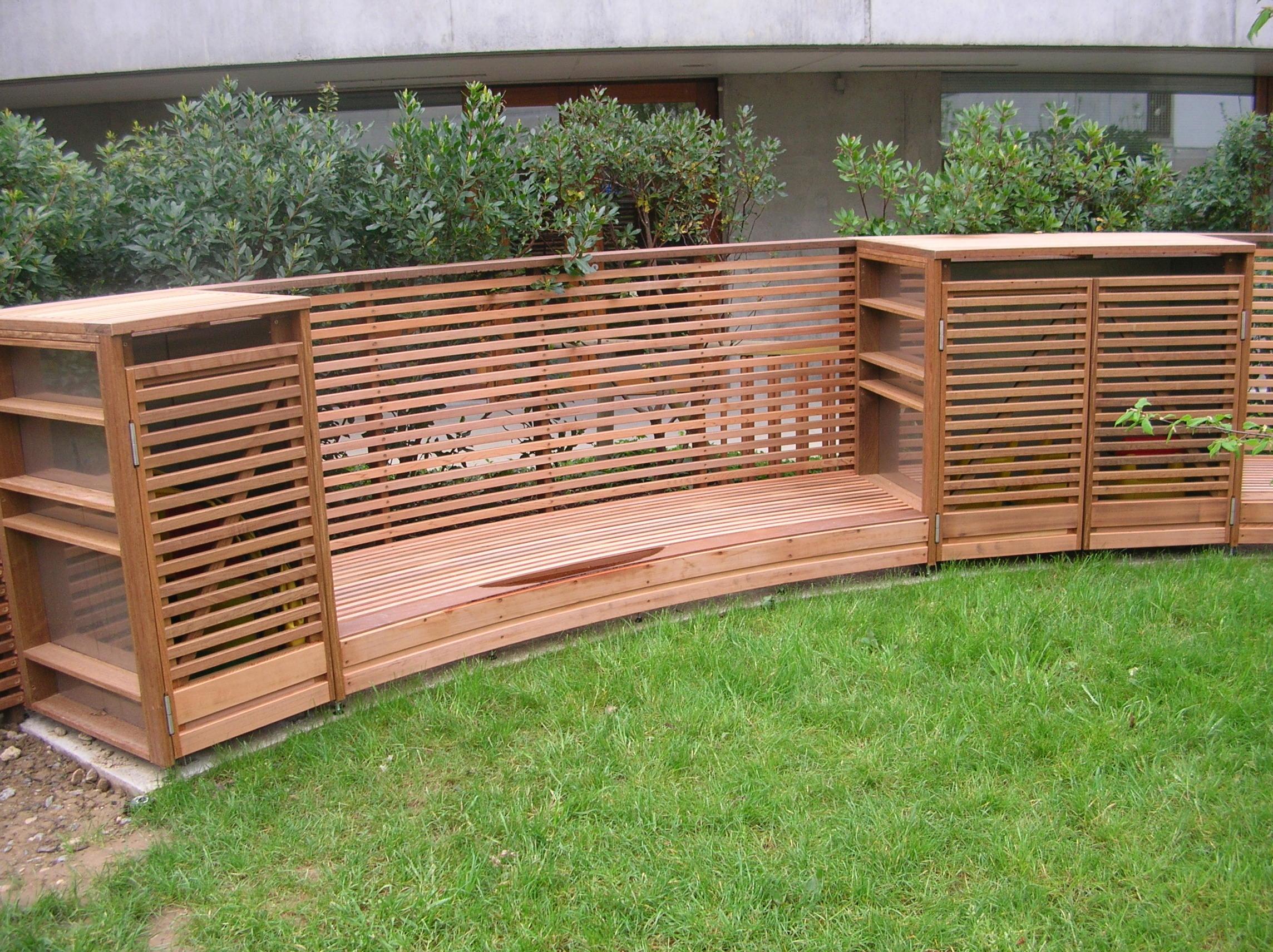 Mobiliers urbains bois et métal