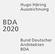 Hugo Haering Auszeichnung des BDA, 2020, Kreisgruppe Neckar Alb