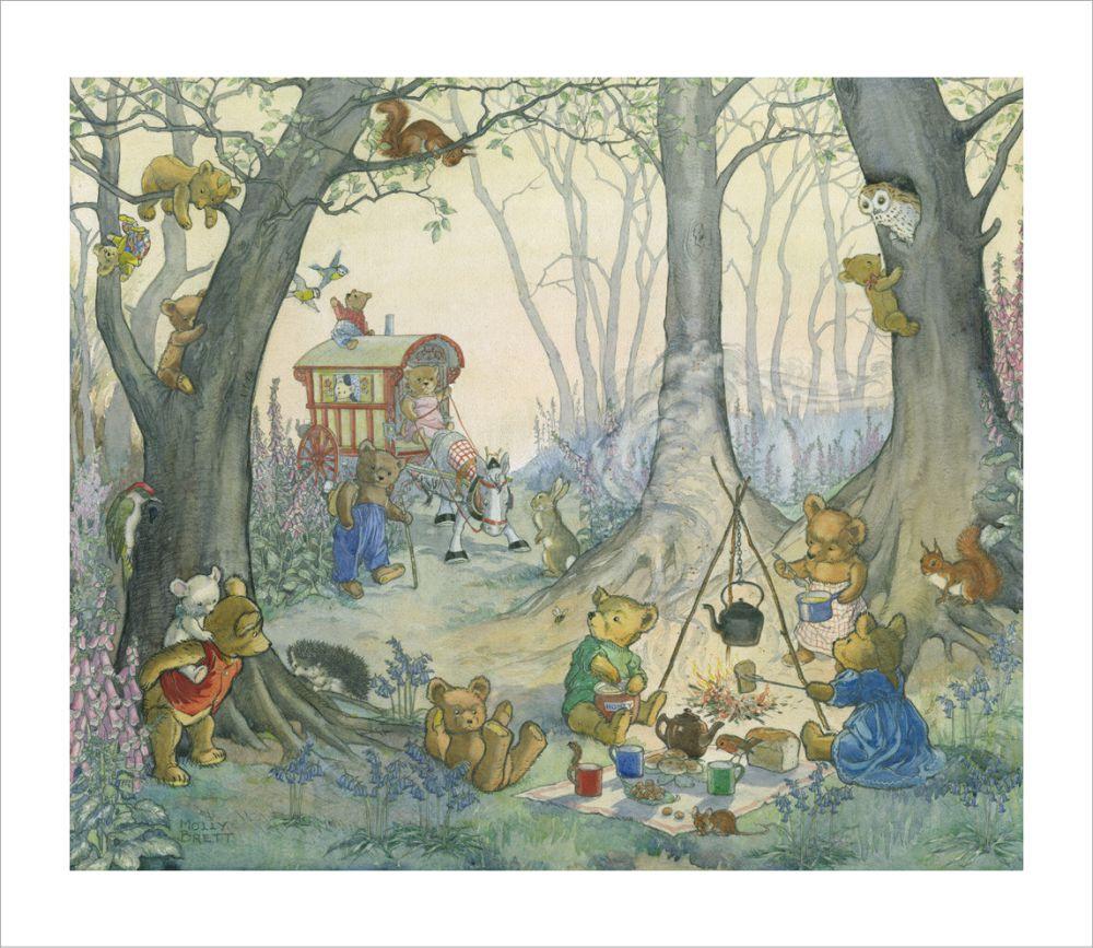 Molly Brett's Teddy Bear's Picnic illustration