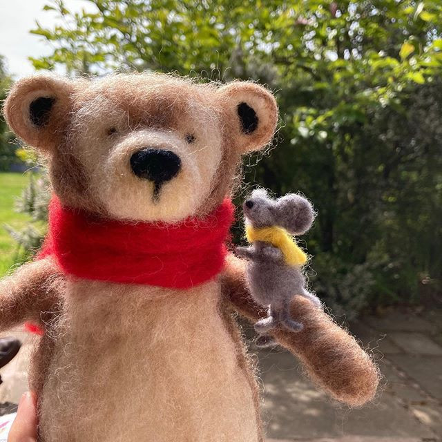 Meet Mr Bear and Mouse for the first time