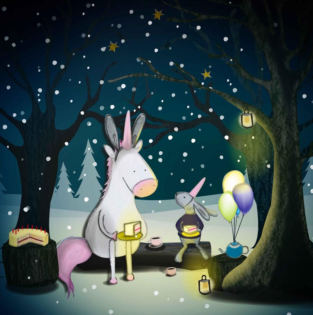 Rabbit's snowy birthday