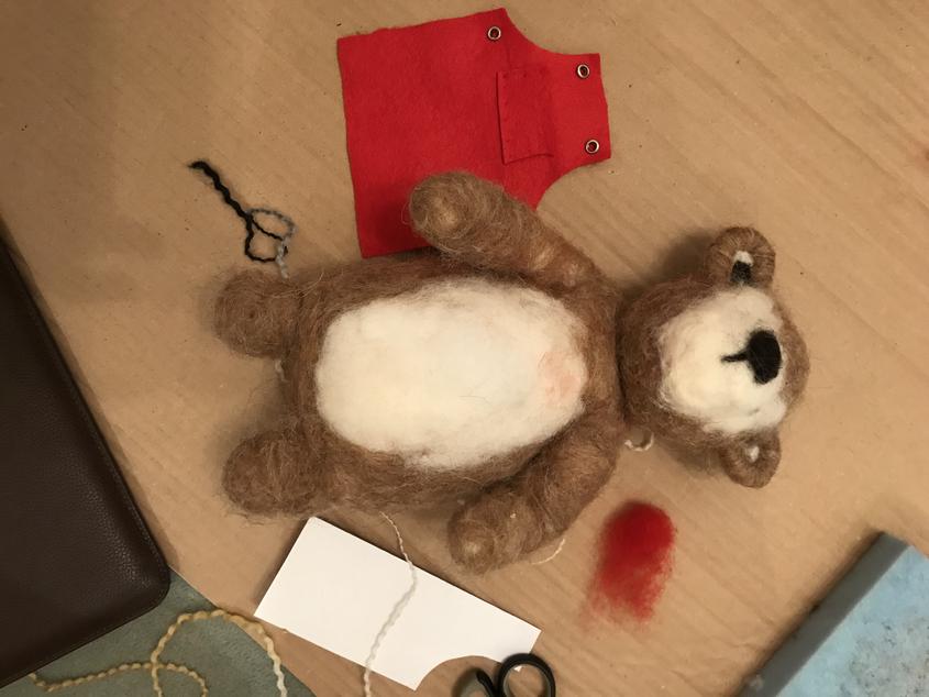 Needlefelting Character Creation Mr Bear