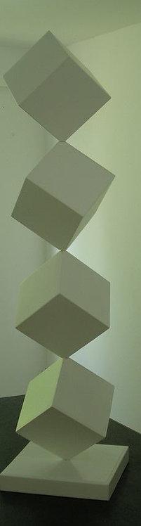 SD 004 - Escultura Cubos Brancos