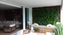 Parede verde decorado Riserva Golf