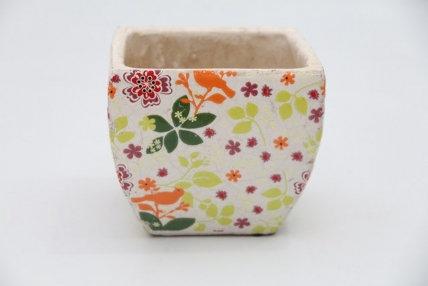 CS 002 - Vaso em Cerâmica Floral