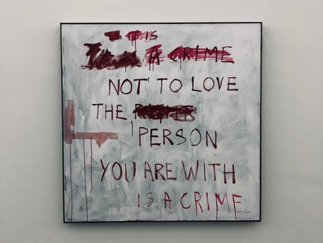 After having seen Tracey Emin: A Fortnight of Tears exhibition at White Cube Bermondsey (London)