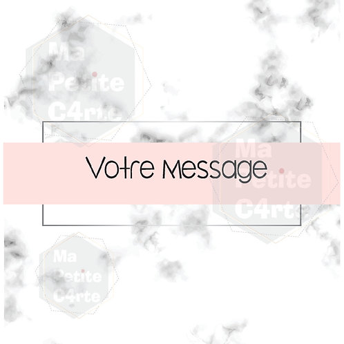 THEME N°18 - MESSAGE MARBRE