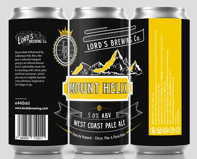 12 X Mount Helix West Coast Pale Ale 440ML Cans