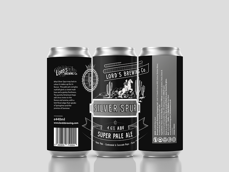 1 X Silver Spur Ultra Pale 4.6%  440ml Can