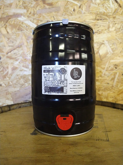 5 L Mini Keg Deltic Golden Ale 3.8% ABV REAL ALE