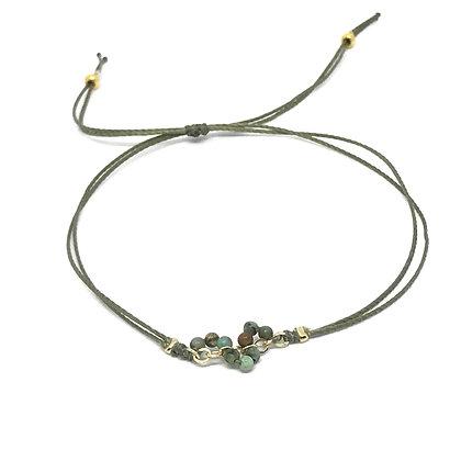 "Bracelet Pierres Fines ""MINIMALIST"" - 10 pierres fines"