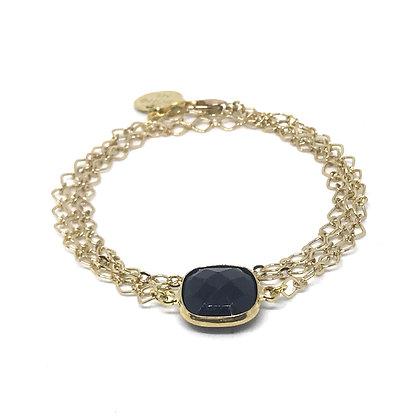 """Bracelet triple ou Collier Chaîne """"DOUBLE"""" en 5 couleurs"""