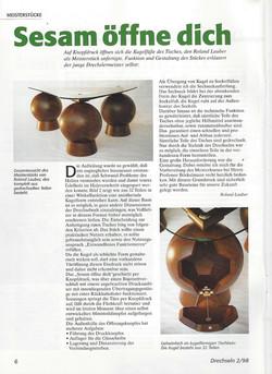 """Fachzeitschrift """" Drechseln """" 1998"""