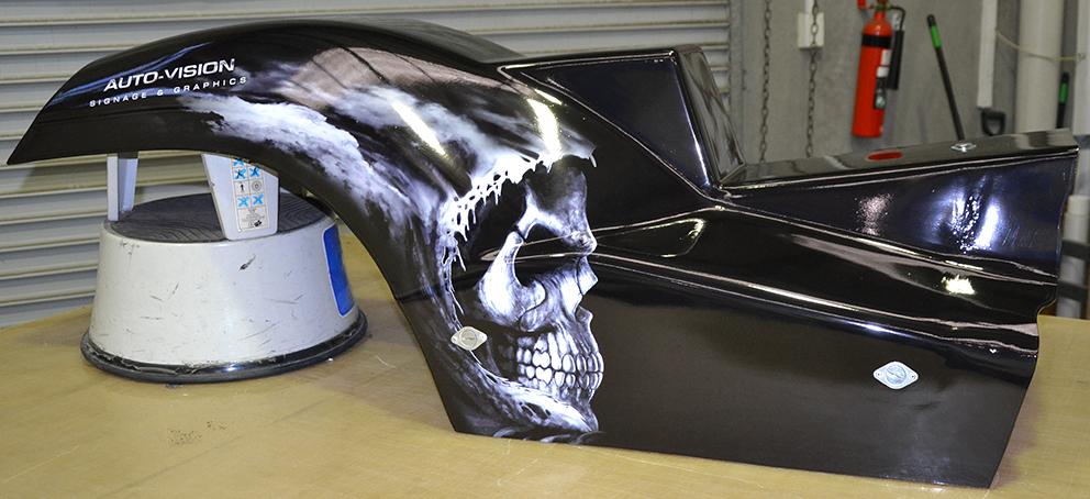 Skull Dirt Drag Bike 1