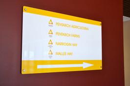 Perth acrylic reception signage