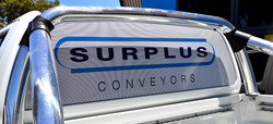 Surplus Conveyors One Way Vision Signage