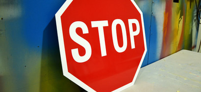 Stop Sign Caution Safety Signage Perth