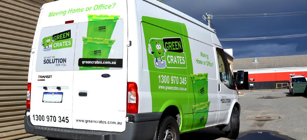 Green Crates Signage