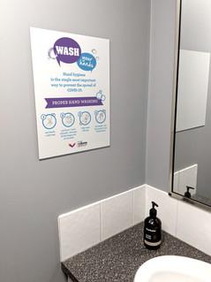Bathroom Wash hands covid 19