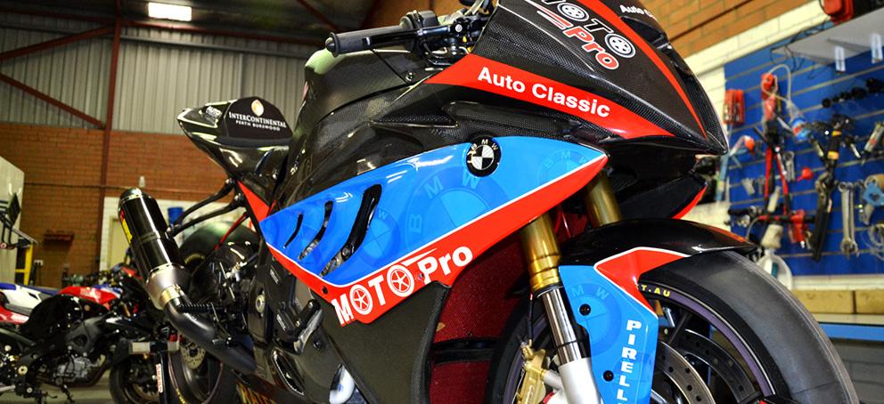 BMW Race Bike Wrap Signage
