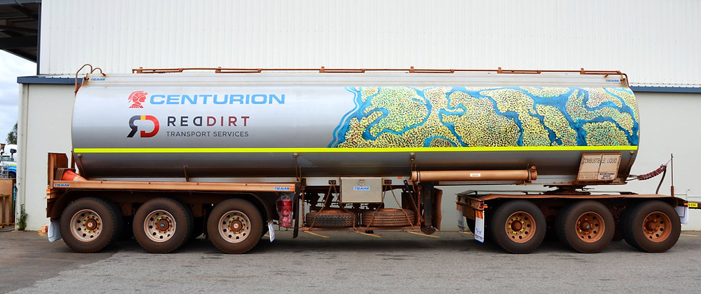 Indigenous Dot Painting Fuel Tanker Signage Wrap Perth