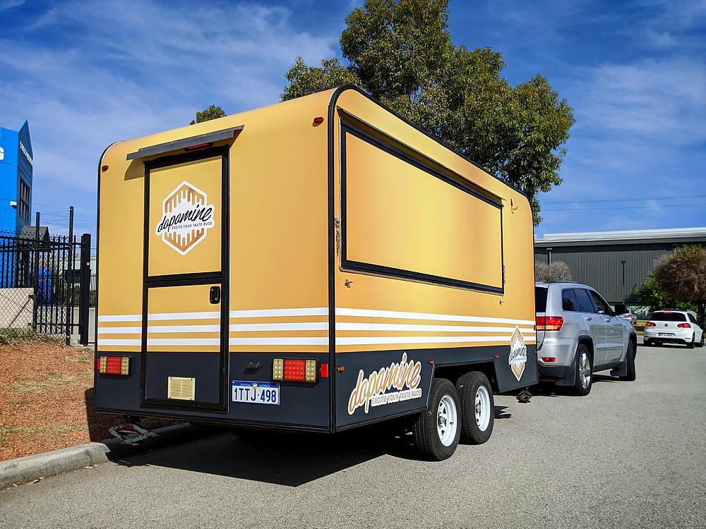 Dopamine Food Truck Wrap Graphics Perth