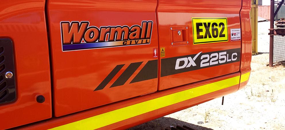 DX225 Signage