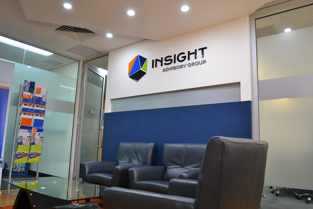 Perth Acrylic Reception Logo Sign Vision Group